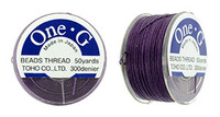 Purple TOHO One-G Nylon Beading Thread 50 Yard Spool - (1 Spool)