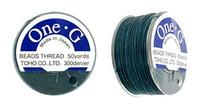 Deep Green TOHO One-G Nylon Beading Thread 50 Yard Spool - (1 Spool)