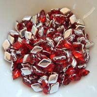10 grams - Gemduo Two Hole Beads Backlit Ruby Matubo Czech Glass Bead