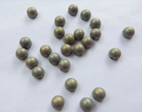 Cabochon 7mm 2-Hole Pacifica Poppy Seed (25 beads)