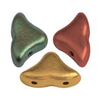 20 Beads - Helios® par Puca® Paris - Yellow Gold Metallic iris - Czech Glass