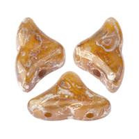20 Beads - Helios® par Puca® Paris - Light Rose Opal New Picasso - Czech Glass