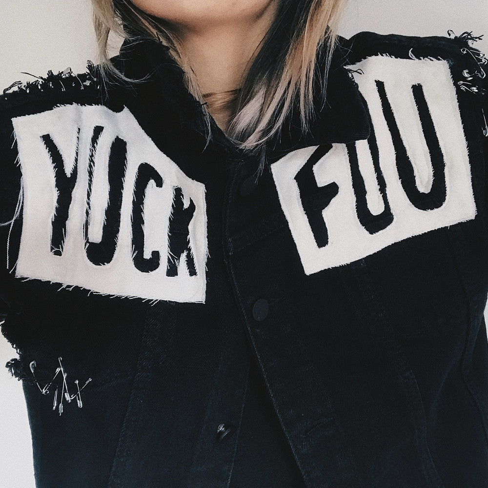 YUCK FOU BLACK DENIM JACKET