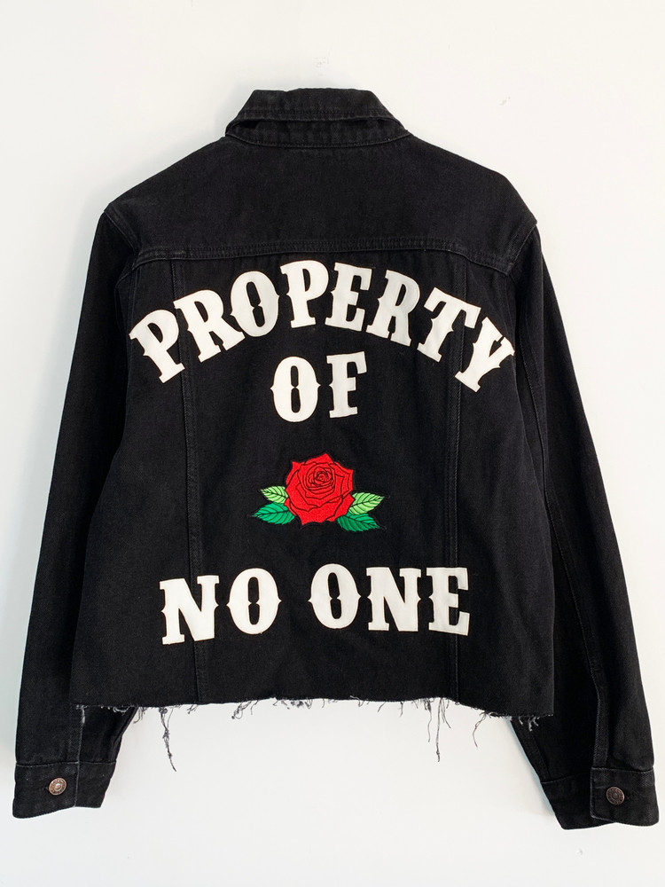 PROPERTY OF NO ONE BLACK DENIM JACKET
