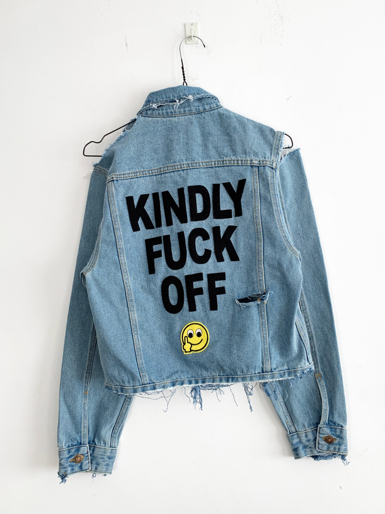 KINDLY FUCK OFF DENIM JACKET
