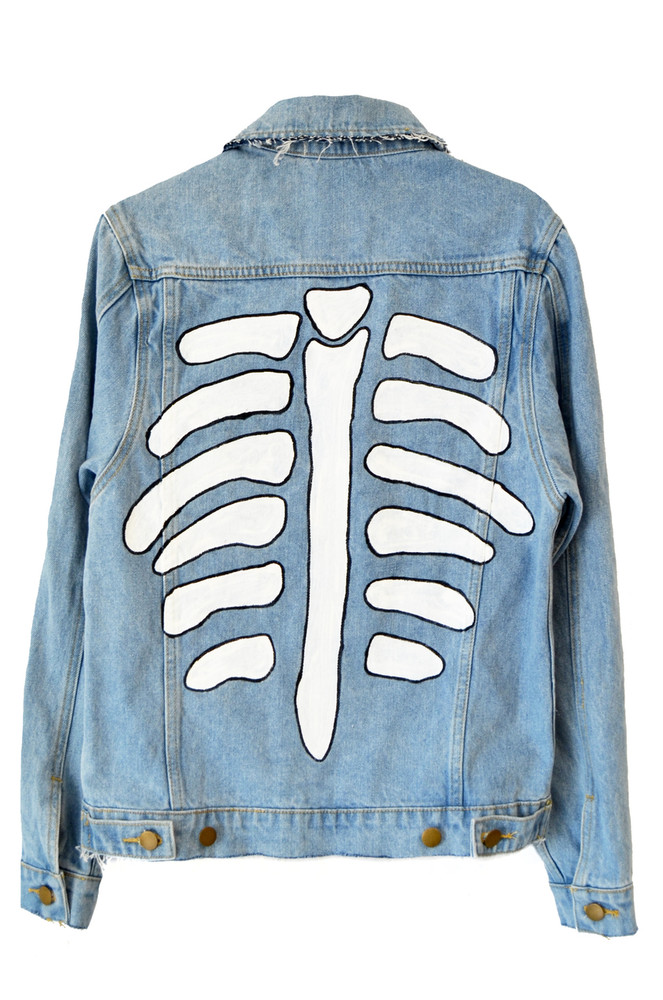 SHOW YOUR BONES DENIM JACKET