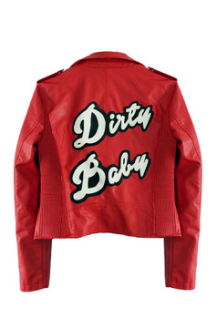 DIRTY BABY RED MOTO JACKET