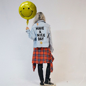 BE POLITE TO OTHERS DENIM JACKET