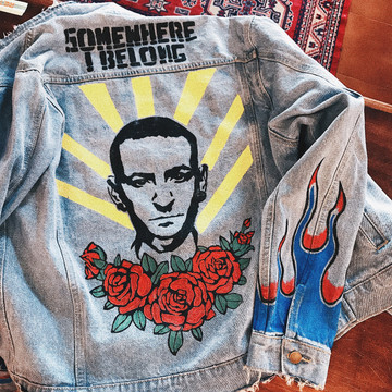CHESTER BENNINGTON TRIBUTE DENIM JACKET