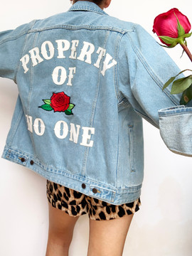 PROPERTY OF NO ONE DENIM JACKET