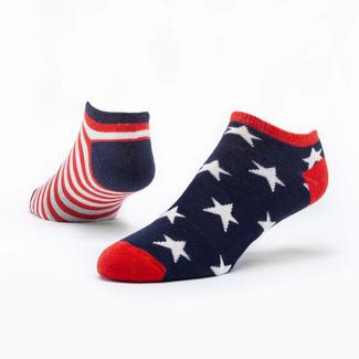 Organic Cotton Footie Socks - Stars & Stripes