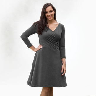 Organic Cotton - 3/4 Sleeve Crossover Dress