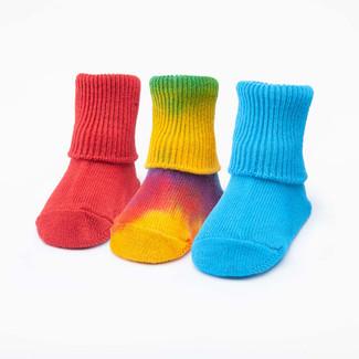 Organic Cotton Socks - Baby Color Anklet 3 Pak
