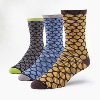 Organic Cotton Socks - Dress Bee Keeper 3 Pak