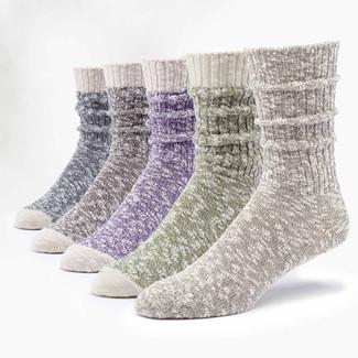 Organic Cotton Socks - Ragg Heathered 5 Pak