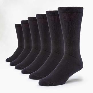 Organic Cotton Diabetic Socks - 6 Pak