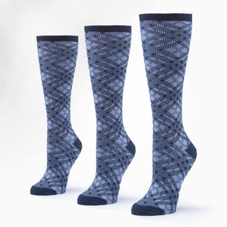 Organic Wool & Cotton Socks -  Knee Hi 3 Pak