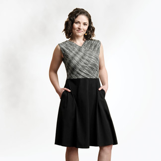 Organic Cotton - Sleeveless Crossover Dress