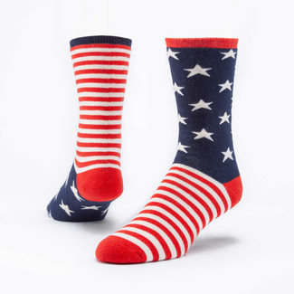 Organic Cotton Snuggle Socks - Stars & Stripes