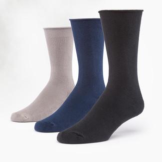 Organic Cotton Socks - Cushion Crew 3 Pak