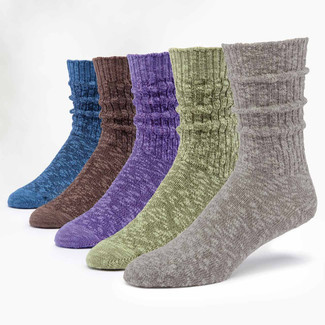 Organic Cotton  Socks - Ragg Solid 5 Pak