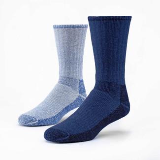 Organic Wool Socks - Mountain Hiker Mixed 2 Pak