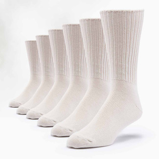 Organic Cotton Socks - Allergy Crew  6 Pak
