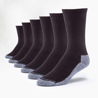 Organic Cotton Socks - Sport Crew 6 Pak