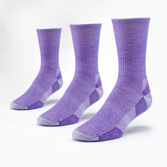 Organic Wool Socks - Urban Hiker Crew 3 Pak