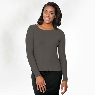 Organic Cotton Mesh Sweater Tee - Clearance