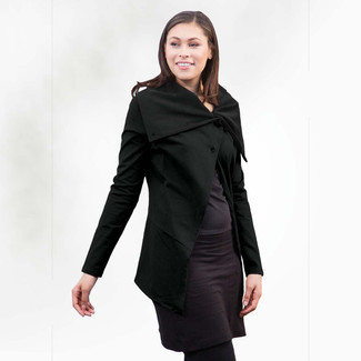 Organic Cotton Asymm Jacket - Clearance