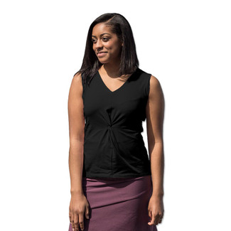 Organic Cotton Sleeveless Twist Top - Clearance