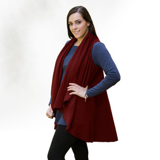 Organic Cotton Shawl Vest - One Size