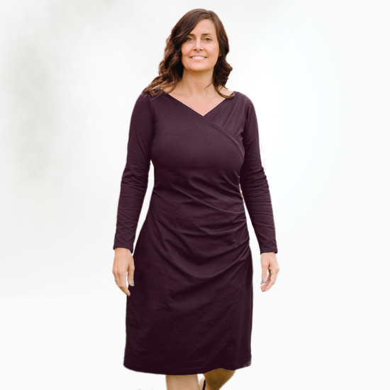 Organic Cotton Long Sleeve Tuck Dress