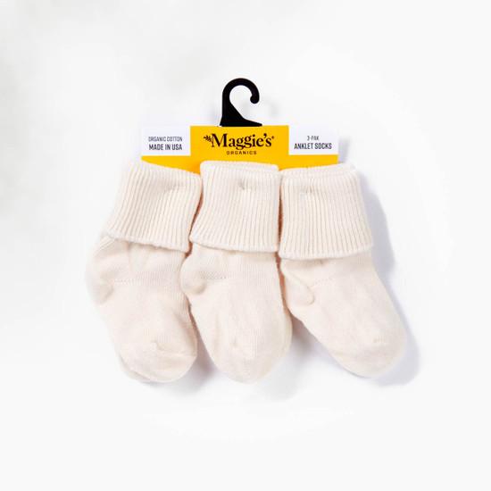 Organic Cotton Baby Sock - Anklet 3-Pak