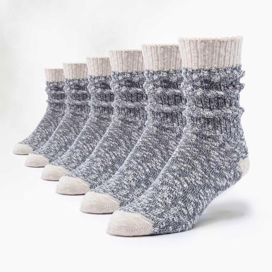 Organic Cotton Ragg Socks - 6 Pak