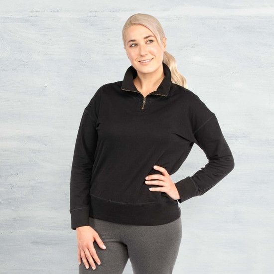 Organic Cotton - Quarter Zip Fleece Pullover