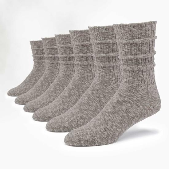 Organic Cotton Socks -  Ragg Solid 6 Pak
