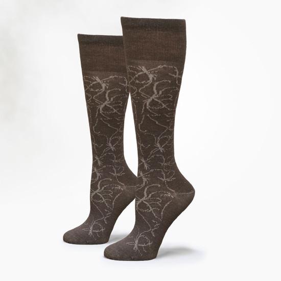 """Organic Wool Socks -  """"Ink"""" Knee Hi"""