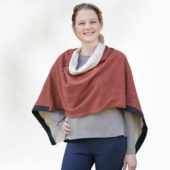 Organic Cotton - Reversible Button Cape  - Clearance