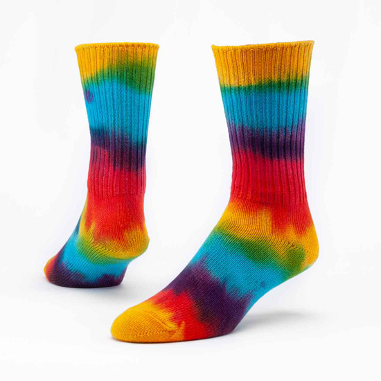 Organic Cotton Socks - Hand-Dyed Crew