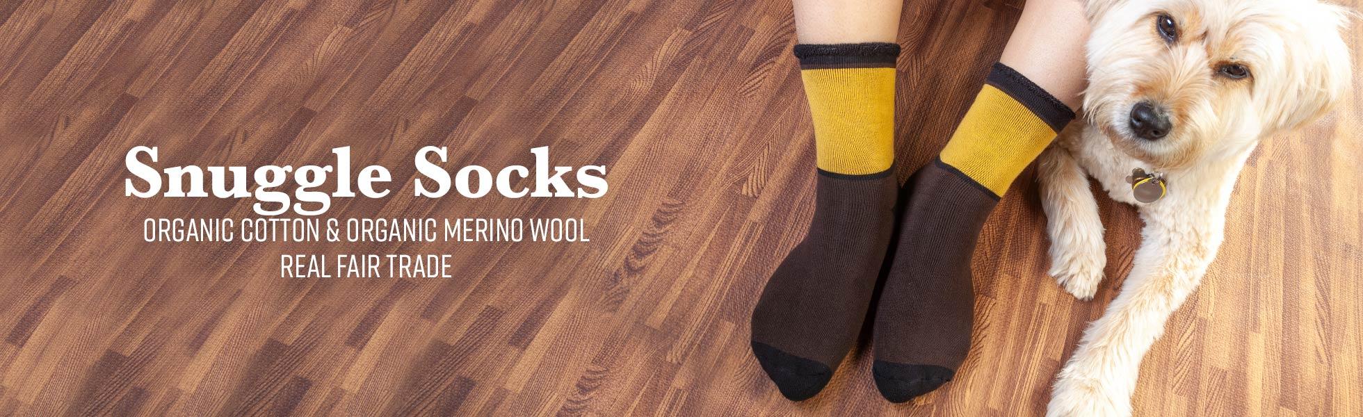 Organic Cotton & Organic Wool Snuggle Socks