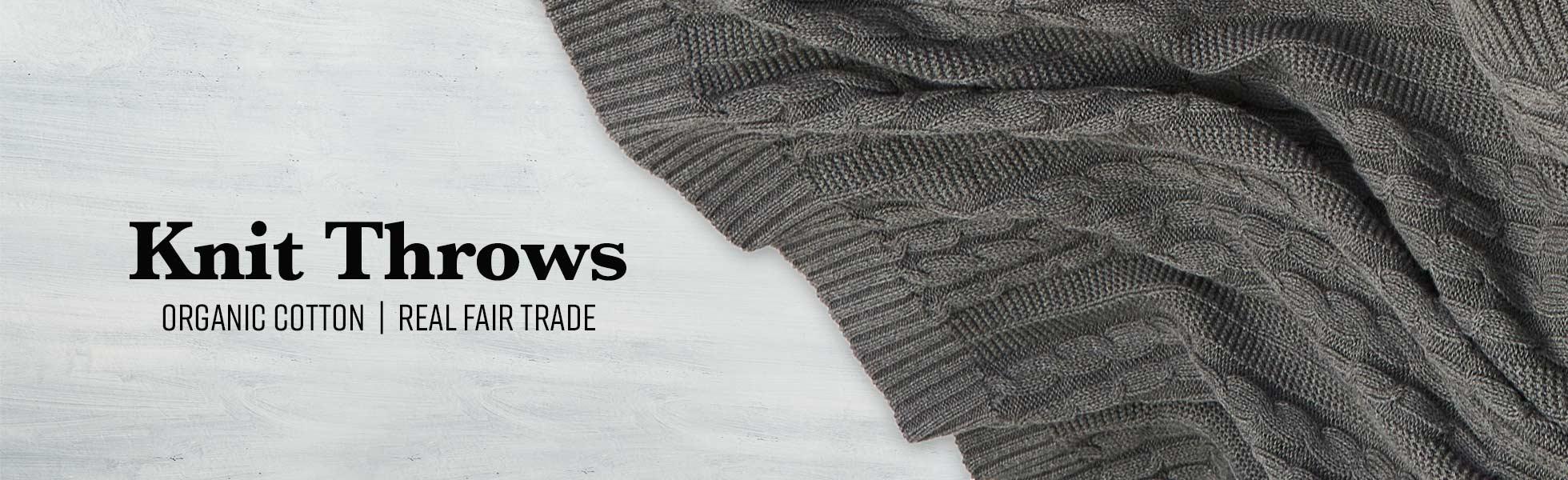 Organic Cotton Knit Throws