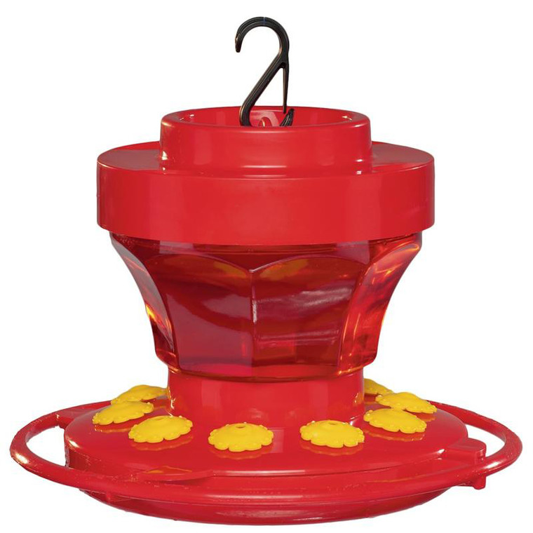 Plastic Hummingbird Flower Feeder - 16 oz.