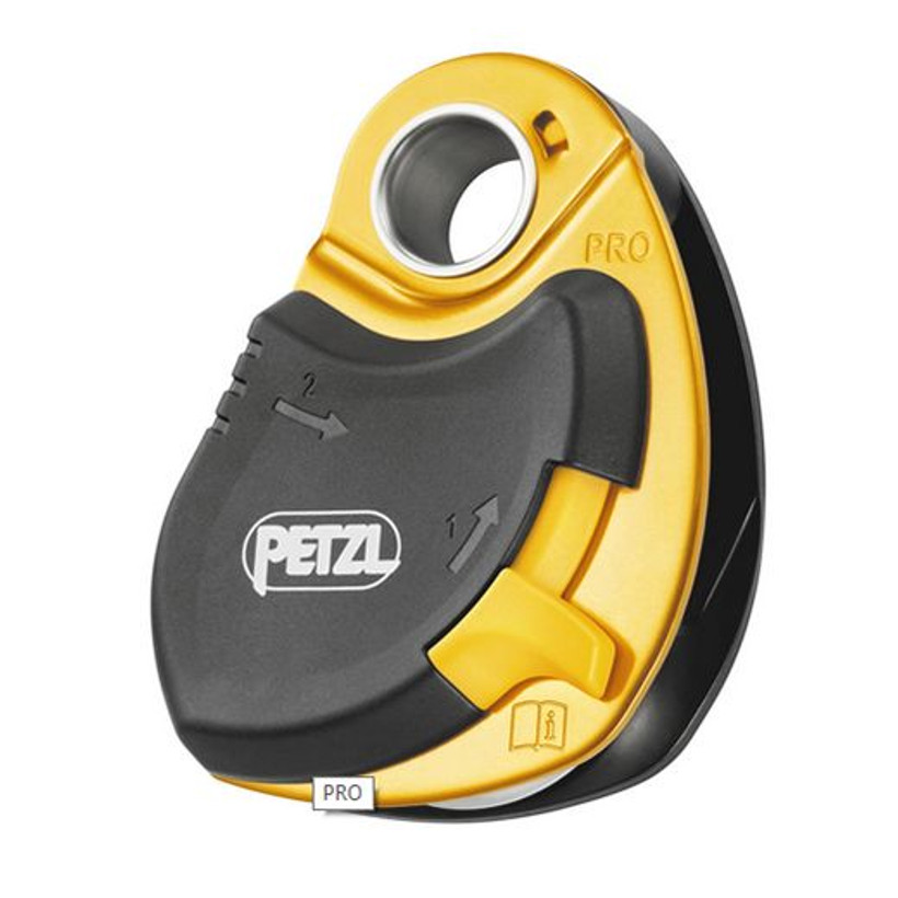 Petzl PRO drop proof pulley, locked when loaded, NFPA, 95% e