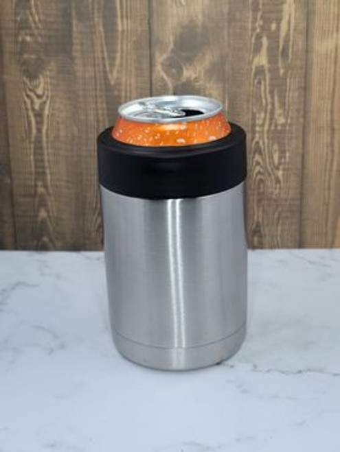 12oz Can Cooler w/Black Band