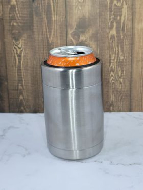 12oz Can Cooler w/Stainless Band