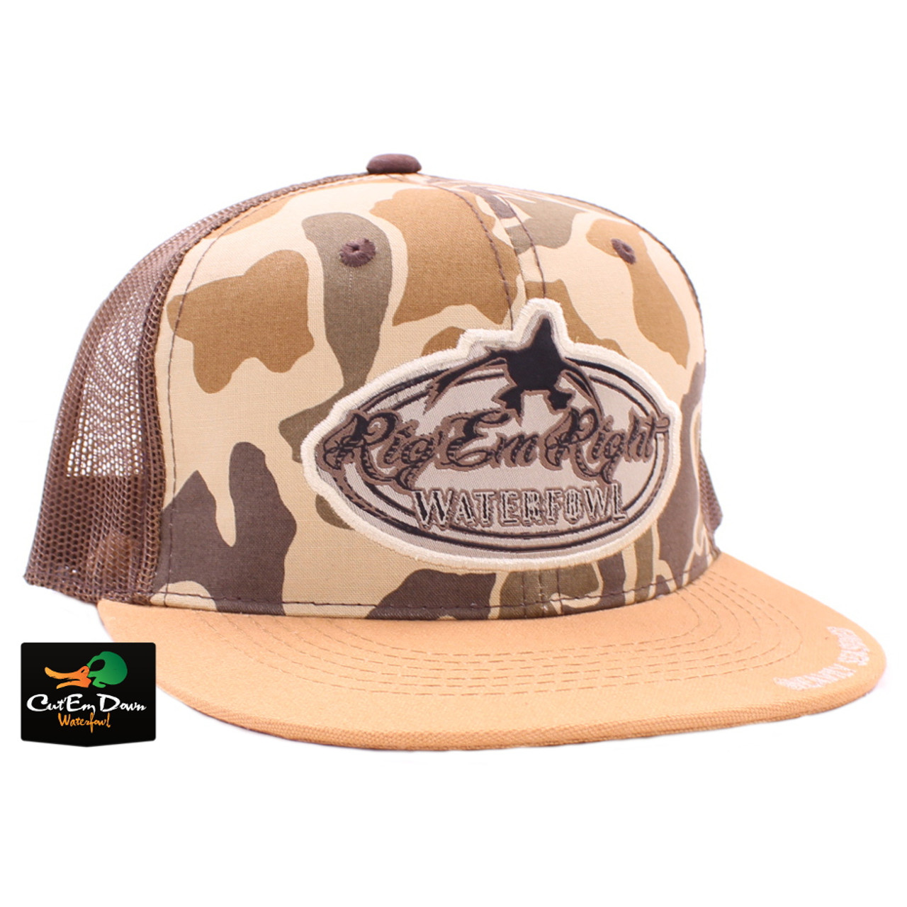 Rig Em Right Camo Front Trucker Hat d010794230d