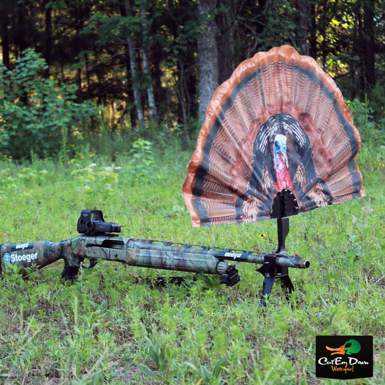 Details about NEW MOJO OUTDOORS TAIL CHASER MAX TURKEY FAN DECOY BLIND HIDE  SHOTGUN