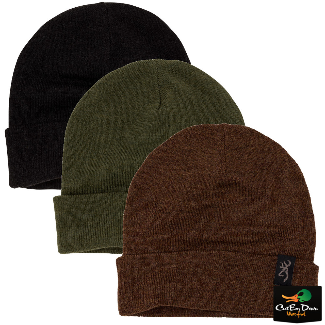 04978304253 Browning High Country Merino Wool Reversible Beanie